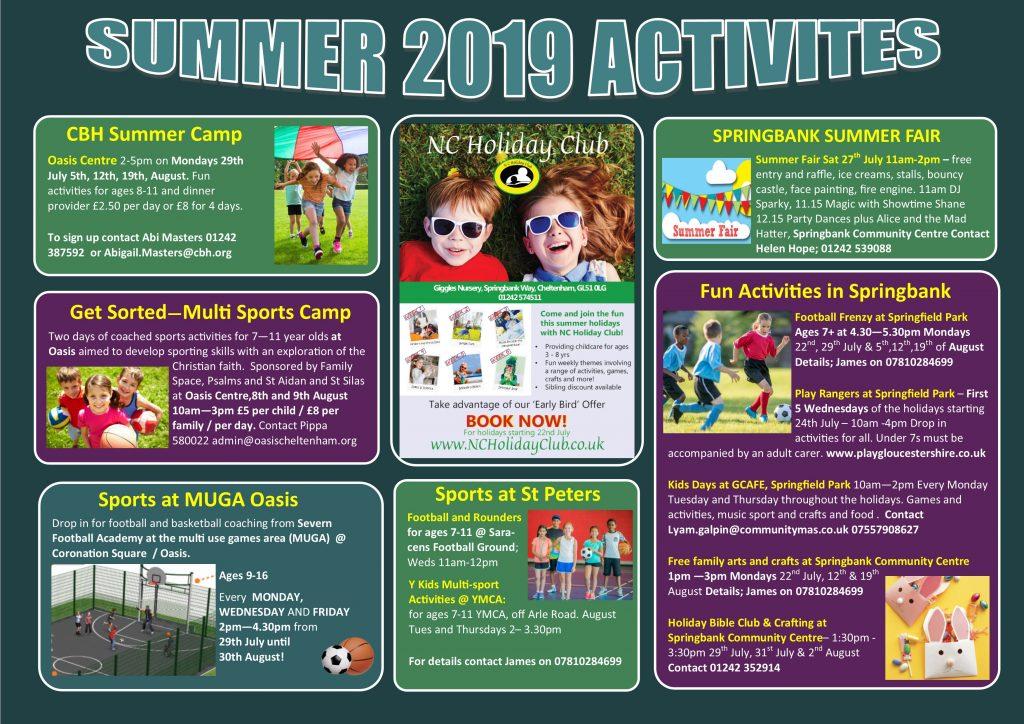 Summer Activities Flyer – Hesters Way Partnership